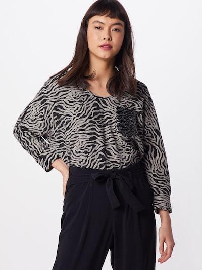 Key Largo Shirt 'MARTINA' in silbergrau / schwarz: Frontalansicht
