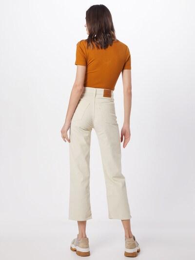 LEVI'S Jeansy 'RIBCAGE' w kolorze kremowym: Widok od tyłu