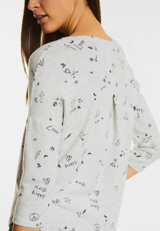 STREET ONE Kuscheliges Print Shirt