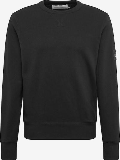 Calvin Klein Jeans Sweatshirt 'MONOGRAM SLEEVE BADGE CN' in schwarz, Produktansicht
