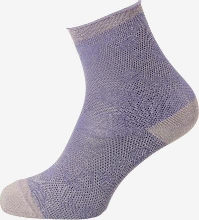 mp Denmark Socken 'Carol' in graumeliert / helllila, Produktansicht