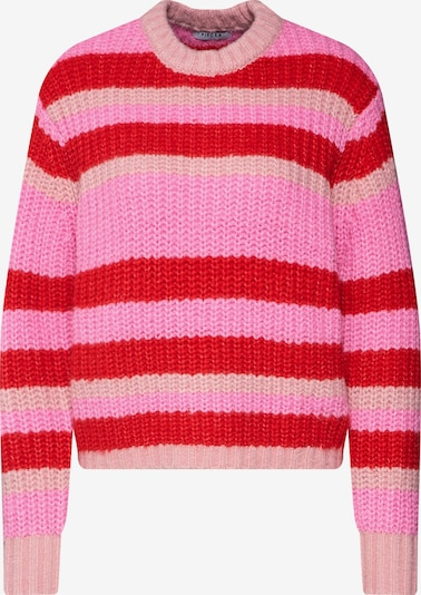 PIECES Pullover 'HUE' in rosa / rot, Produktansicht