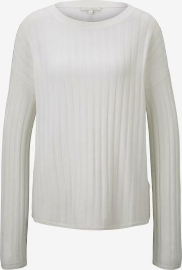 TOM TAILOR DENIM Pullover in offwhite, Produktansicht