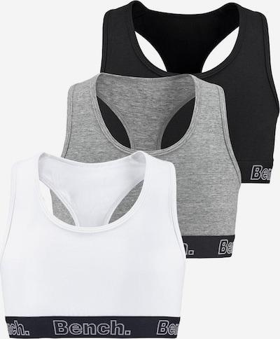 BENCH Bustiers (3 Stück) in grau / schwarz / weiß, Produktansicht