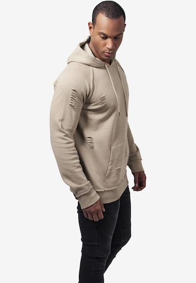 Urban Classics Ripped Hoody in beige: Frontalansicht