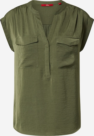 s.Oliver Bluse in khaki: Frontalansicht