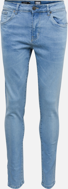 Urban Classics Jeans 'Slim Fit Jeans' in blue denim, Produktansicht