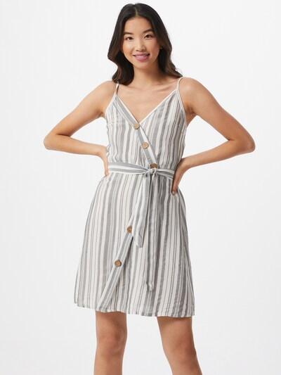 Hailys Kleid 'Elfie' in grau / weiß, Modelansicht