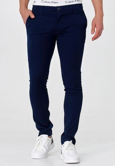 INDICODE JEANS Chinohose 'Akkad' in navy, Modelansicht