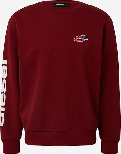 DIESEL Sweat-shirt 'S-GIRK-K14' en lie de vin, Vue avec produit