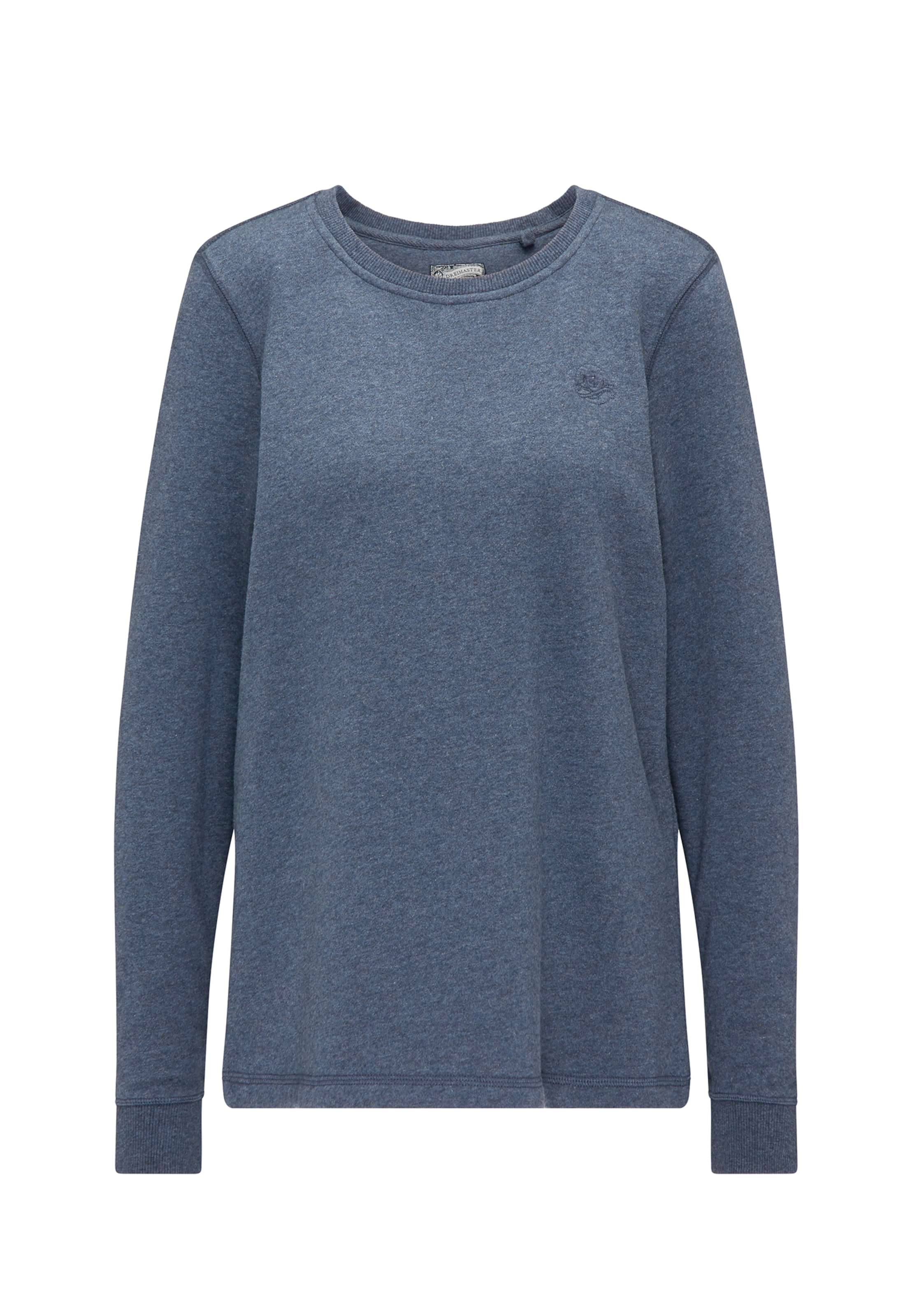 Sweat Dreimaster Chiné shirt En Bleu L345RAjq