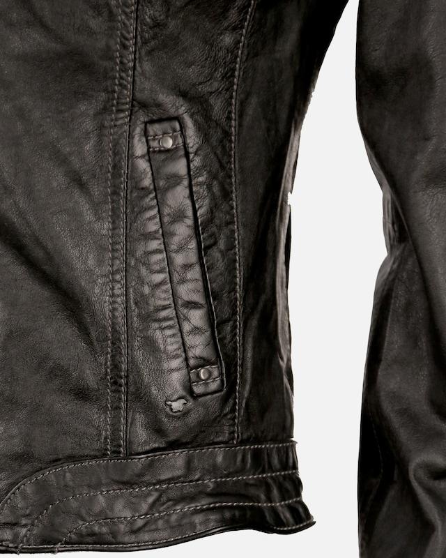 MUSTANG Lederjacke 'Ina' in schwarz    Großer Rabatt f8b8d7