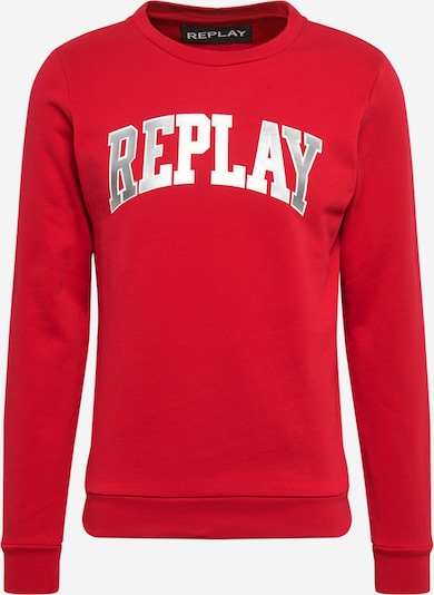 REPLAY Sweatshirt in silbergrau / rot, Produktansicht