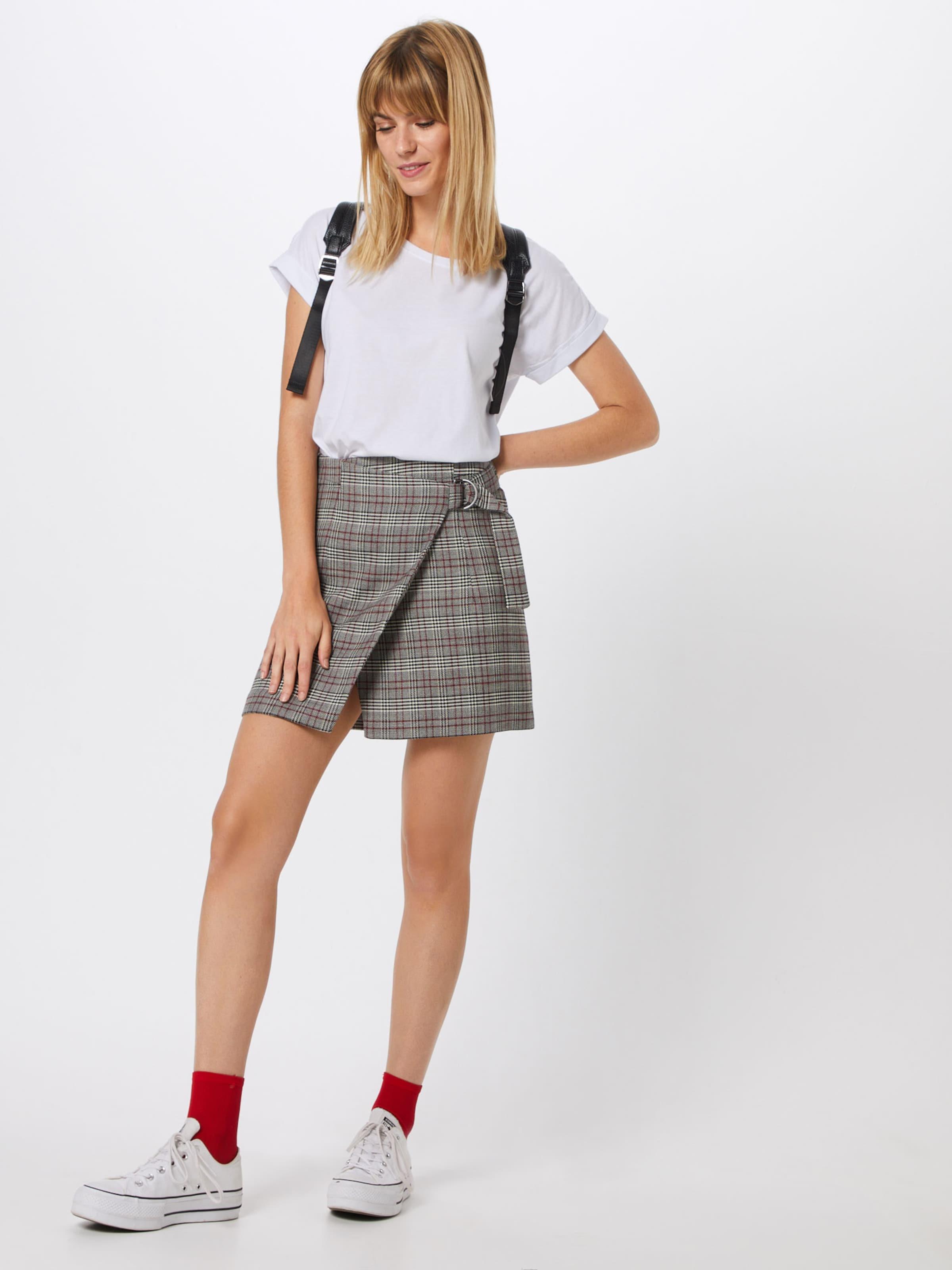 Woven' In Schwarz 'skirt Edc By Esprit GrauRot Rock Skirts 7yvmfgIYb6
