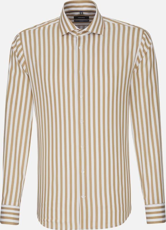 SEIDENSTICKER Hemd in beige   braun  Neu in diesem Quartal