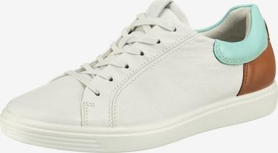 ECCO Soft 7 W Sneakers Low in hellblau / braun / weiß, Produktansicht