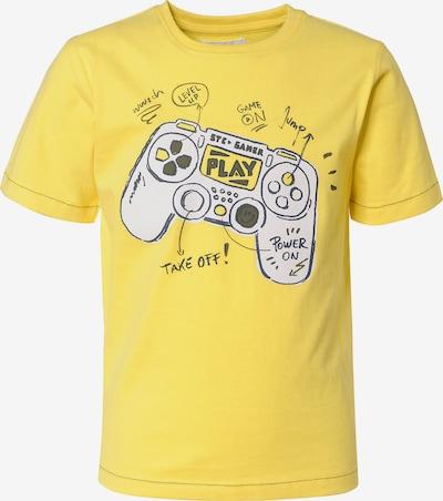 STACCATO T-Shirt in gelb / anthrazit / weiß, Produktansicht