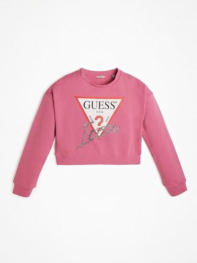 GUESS KIDS Sweatshirt in pitaya / weiß, Produktansicht