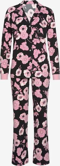 LASCANA Pyjama in pink / schwarz / weiß, Produktansicht