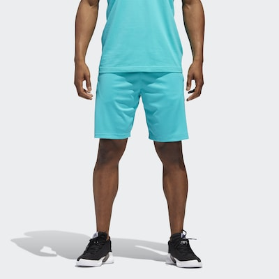 ADIDAS PERFORMANCE Trainingsshort in türkis / schwarz: Frontalansicht
