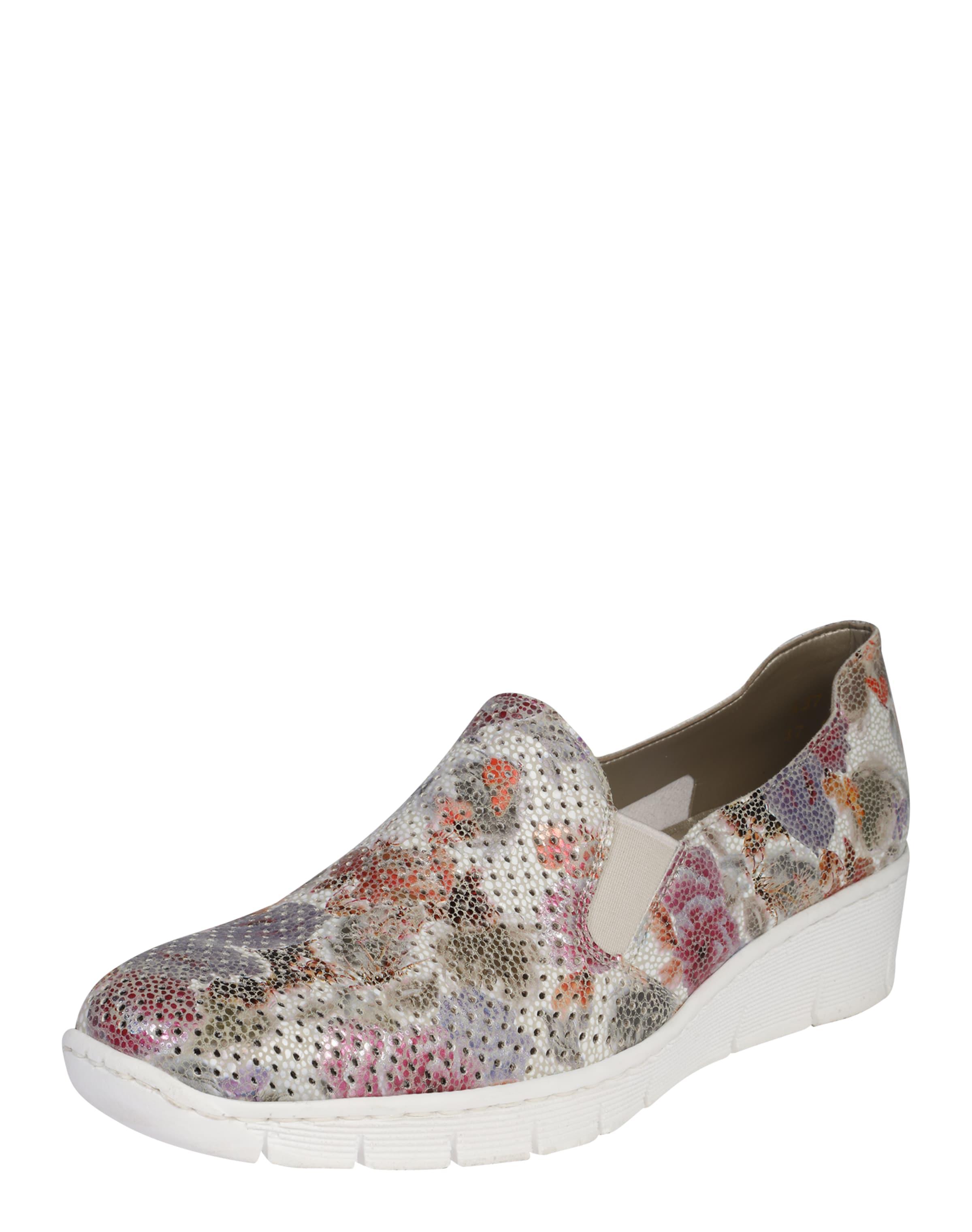 RIEKER Slipper Floral Verschleißfeste billige Schuhe