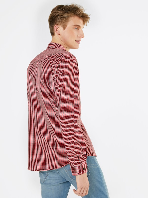 Tom Tailor Casual Hemd Ray Soft Fil A Fil Check Shirt