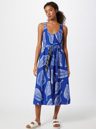 UNITED COLORS OF BENETTON Košilové šaty - modrá / černá / bílá: Pohled zepředu