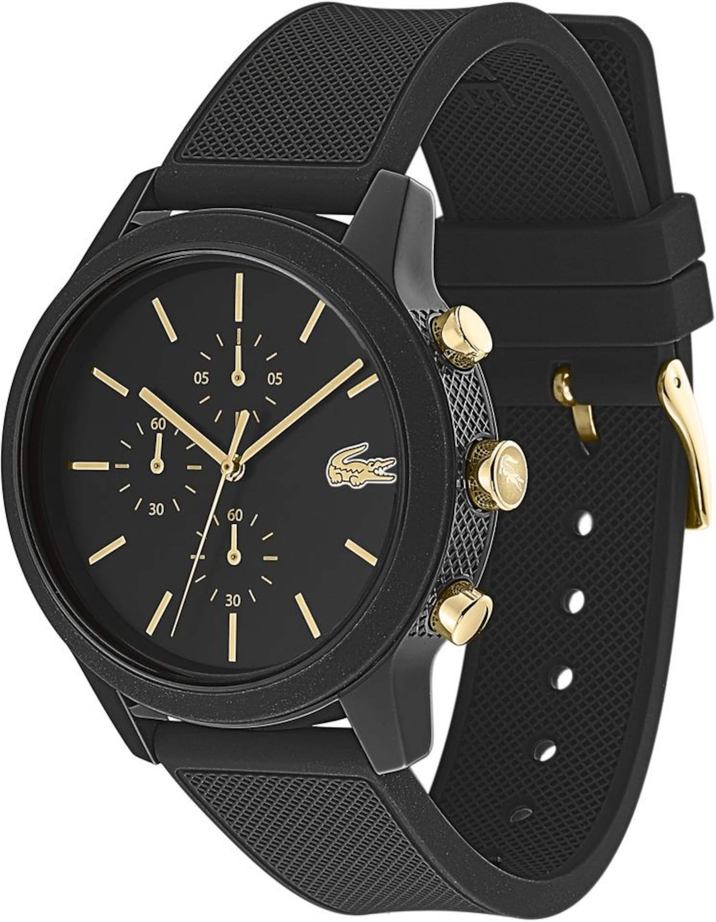 12 'lacoste Lacoste In Chronograph 122011012' Schwarz bf7Ygy6v