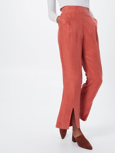 Pop Copenhagen Hose 'Flared Split-leg Trousers' in orange, Modelansicht