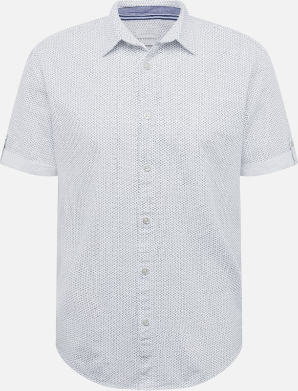 Esprit Chemise Ss' FoncéBlanc En 'shirt Bleu QCtrdshx