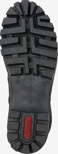Suvarstomieji kulkšnis dengiantys batai iš RIEKER , spalva - juoda: Vaizdas iš apačios