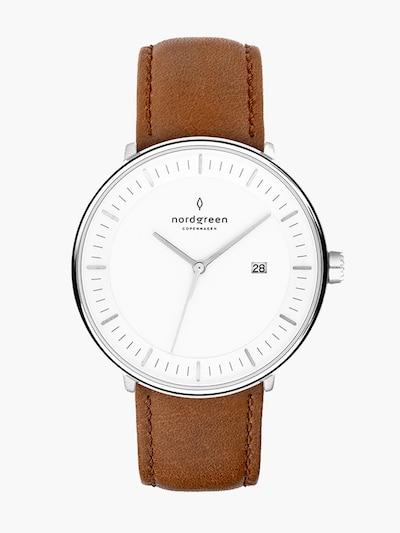 Nordgreen Armbanduhr in braun / silber, Produktansicht