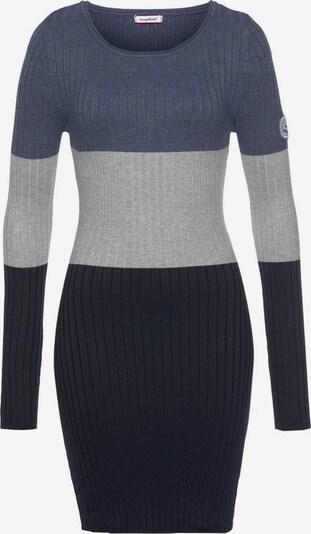 KangaROOS Strickkleid in himmelblau / grau / schwarz, Produktansicht