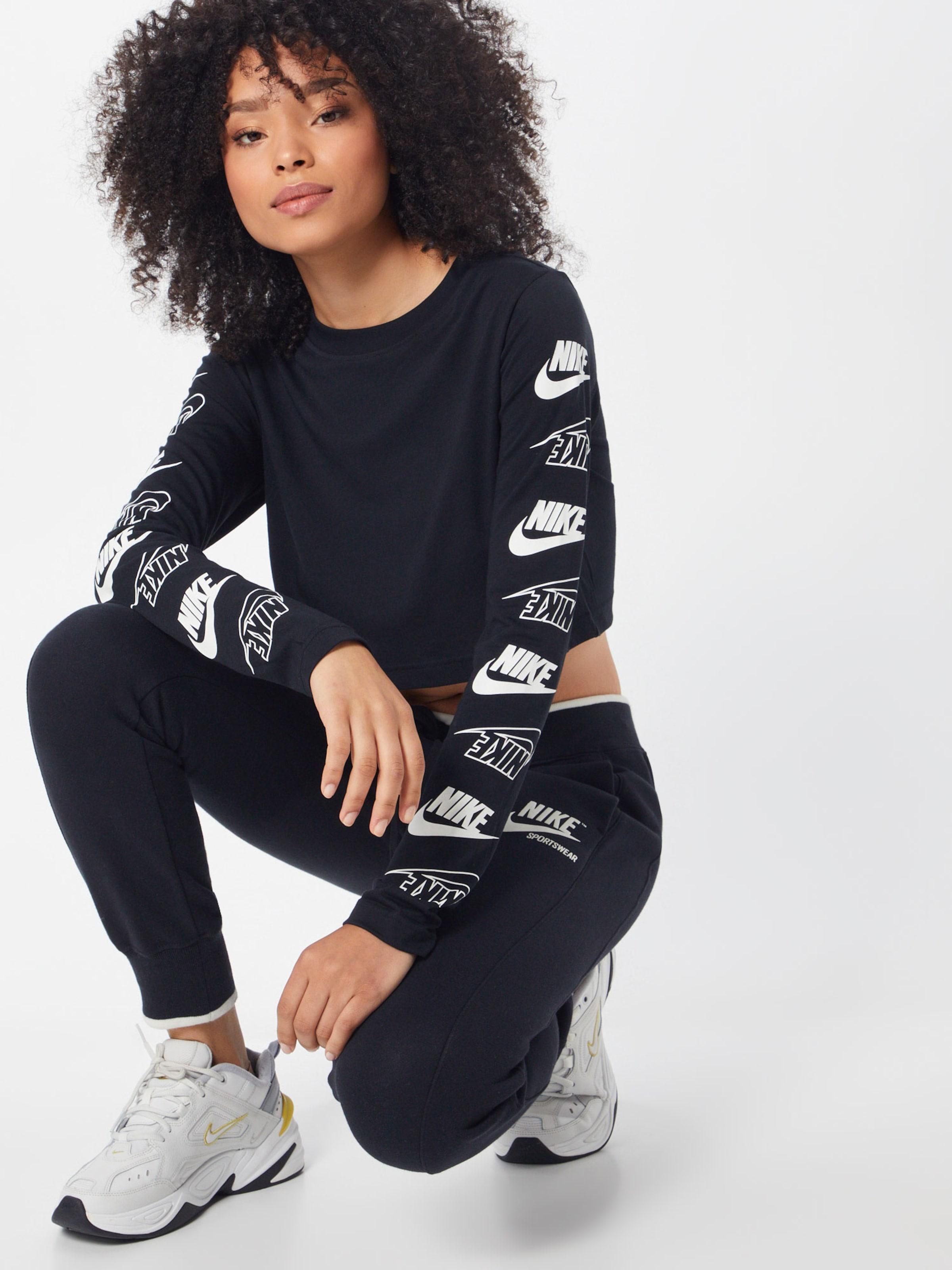 Nike shirt T NoirBlanc En Sportswear 'futura Crop' Flip 8m0NwnyvO