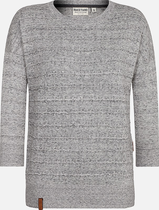 naketano Pullover 'The Soul' in grau, Produktansicht
