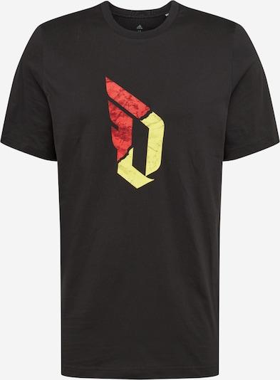 ADIDAS PERFORMANCE T-Shirt fonctionnel 'Dame' en jaune / rouge / noir, Vue avec produit