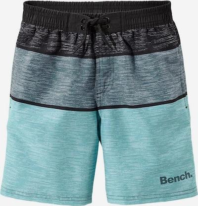 BENCH Badeshorts in aqua / schwarz, Produktansicht