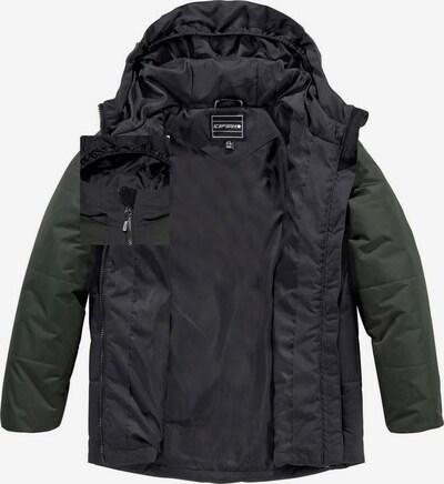 ICEPEAK Winterjacke 'Kaplan' in khaki / schwarz, Produktansicht