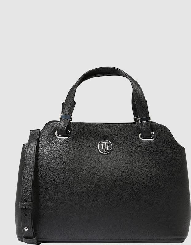 tommy hilfiger handtasche 39 core satchel 39 in schwarz. Black Bedroom Furniture Sets. Home Design Ideas