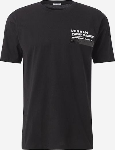 DENHAM Shirt 'WORSHIP TRADITION TEE MCC' in de kleur Zwart, Productweergave