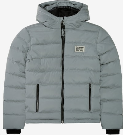 STACCATO Winterjacke in grau / schwarz / weiß, Produktansicht