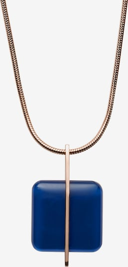 SKAGEN Kette 'SEA GLASS' in blau / rosegold, Produktansicht