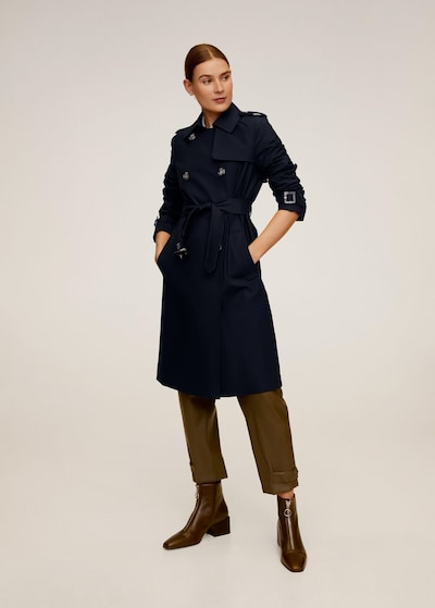MANGO Trenchcoat 'polana' in navy, Modelansicht