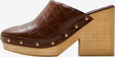 MANGO Schuh 'Clog' in braun, Produktansicht