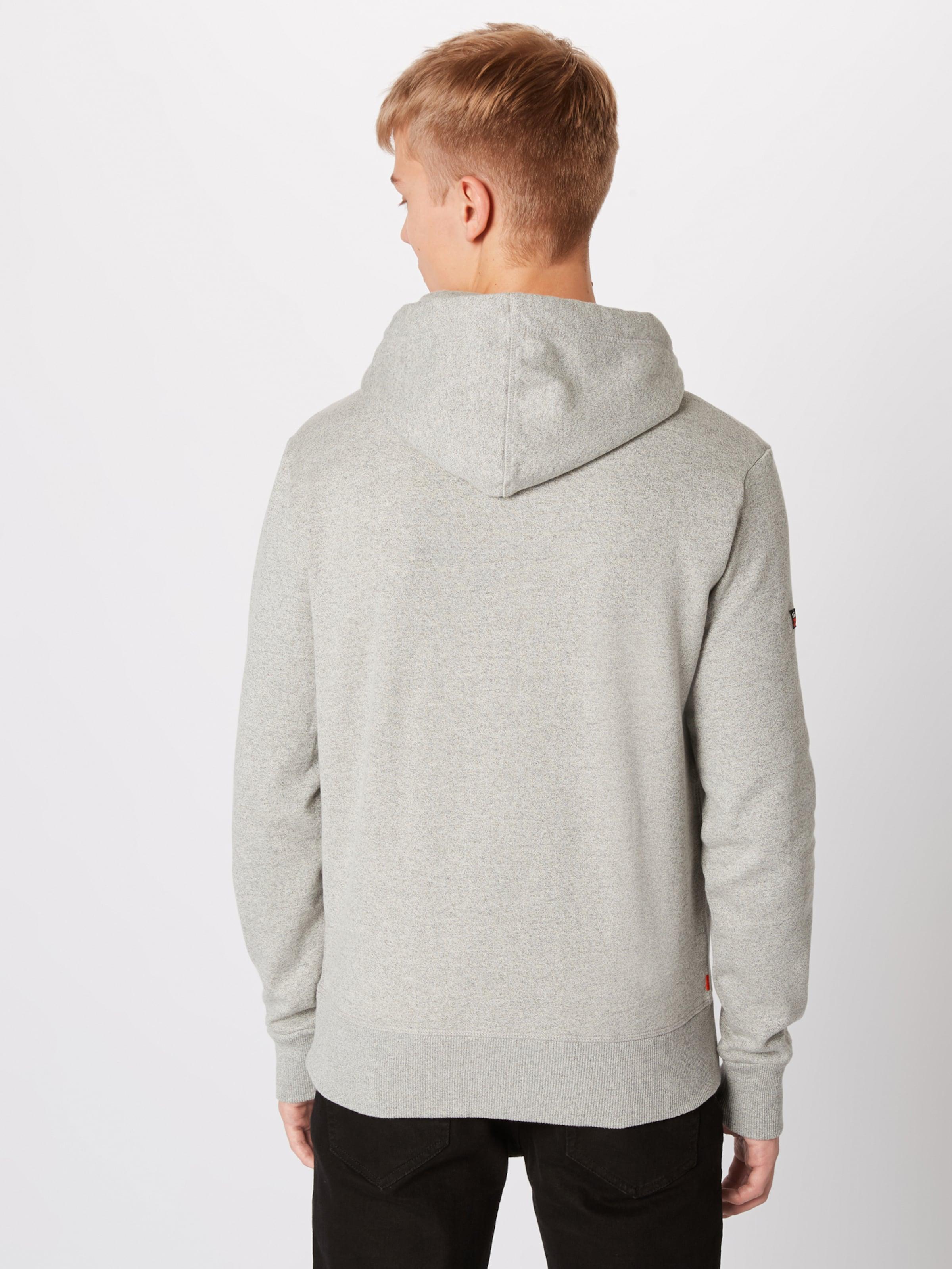 Superdry Tri Infill In Sweatshirt Goods 'premium Hood' GraumeliertOrange 0nwOPk8