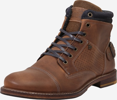 BULLBOXER Boots in dunkelblau / karamell, Produktansicht