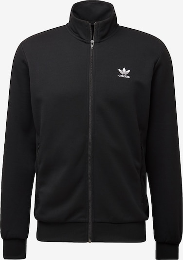 ADIDAS ORIGINALS Sweatjacke 'Essentials' in schwarz / weiß, Produktansicht