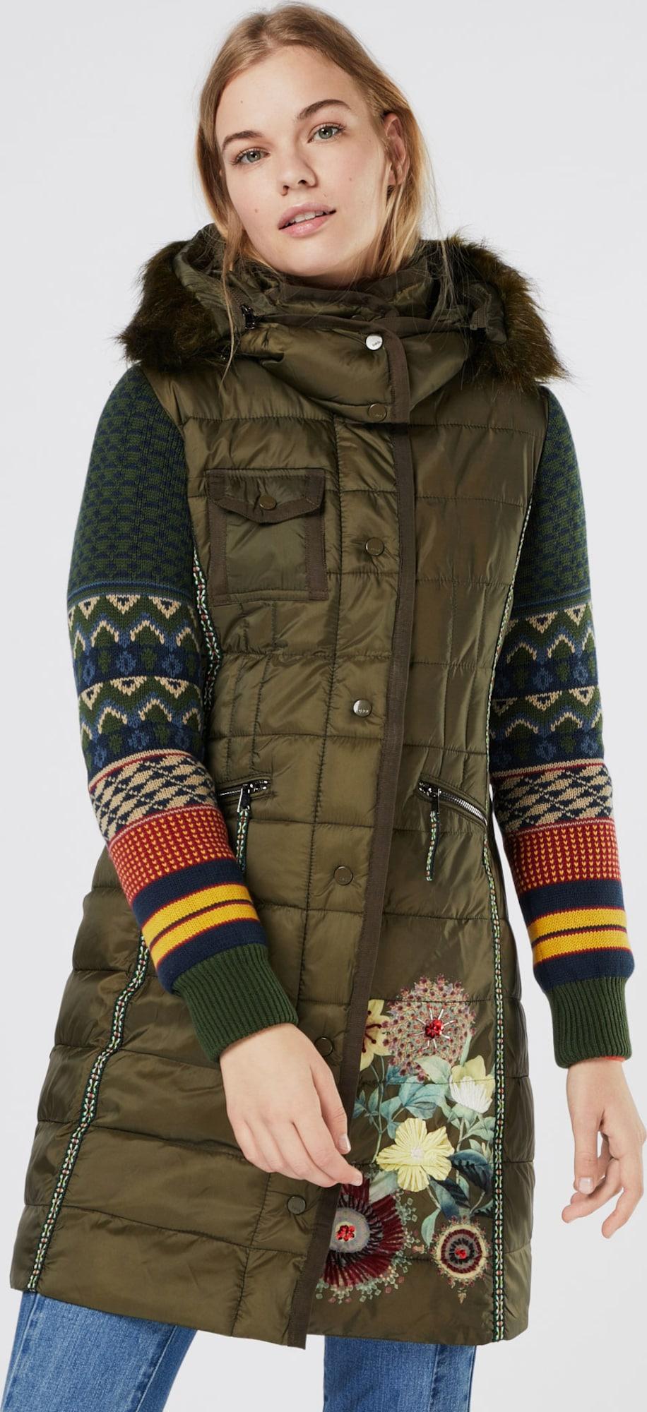 desigual manteau d hiver 39 abrig michelle 39 en vert about you. Black Bedroom Furniture Sets. Home Design Ideas