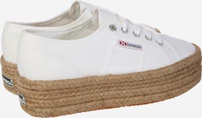 SUPERGA Sneaker '2790 - COTROPEW' mit Jute-Plateau in sand / weiß: Rückansicht