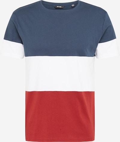 Only & Sons T-Shirt 'NEWBAILEY' en bleu foncé / rouge / blanc, Vue avec produit